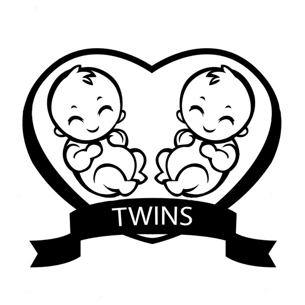 Twin Children  Tattoo Design