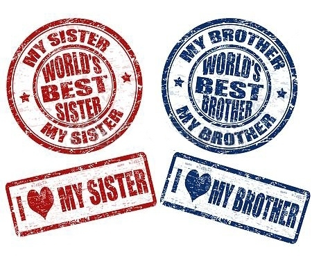 Stamp for Best Brother and Sister Tattoo Design