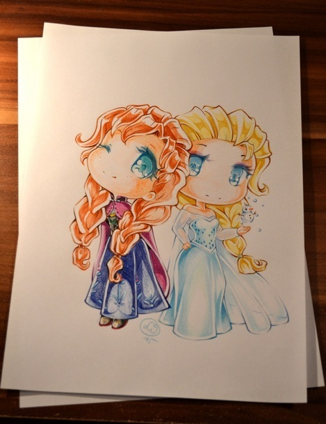 Frozen Sisters Tattoo Design