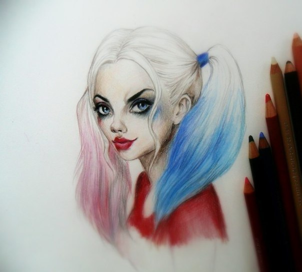 Awesome Harley Quinn  Tattoo Design