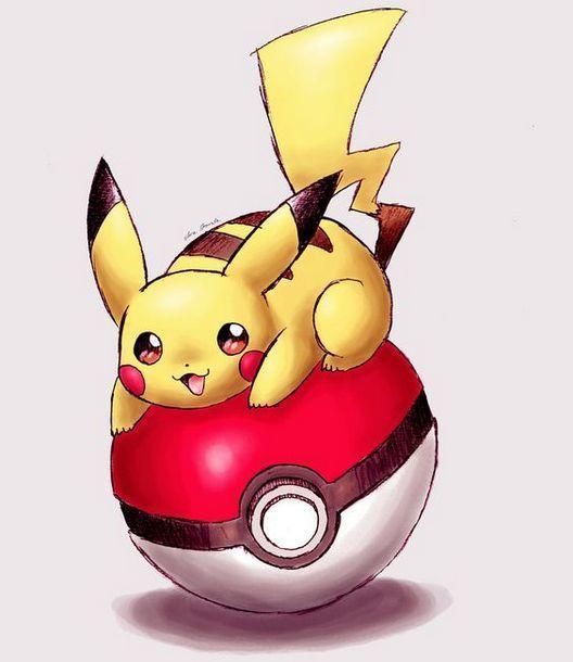 Pikachu on The Poke Ball Tattoo Design