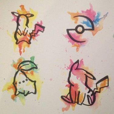 Watercolor Pokemon Tattoo