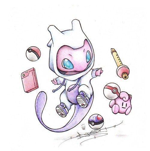 Cute Pink Pokemon Tattoo Design