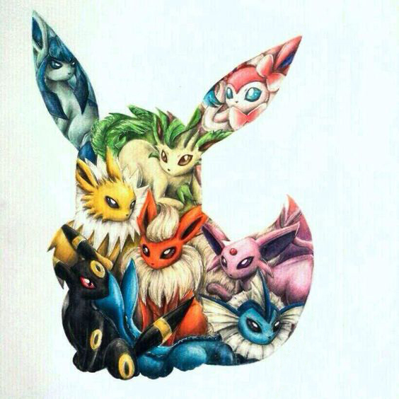 Eevee Tattoo Design
