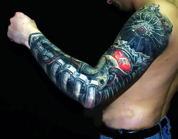 Bionic Arm Tattoo Idea