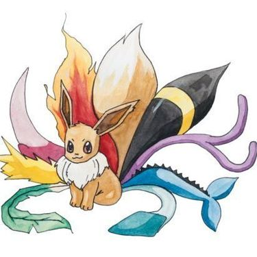 Eevee with Nine Tails Tattoo