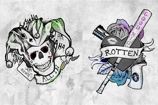 Suicide Squad The Joker and Harley Quinn Tattoo Design