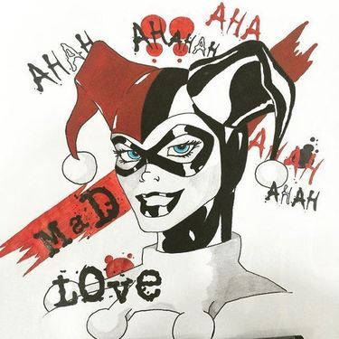 Trash Harley Quinn Tattoo