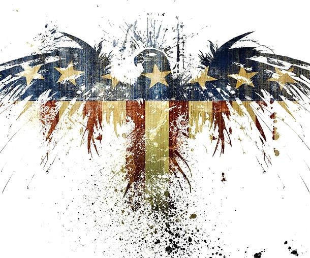 Amazing Patriotic Eagle Tattoo Design