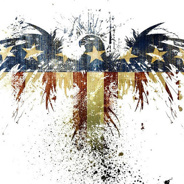 Amazing Patriotic Eagle Tattoo