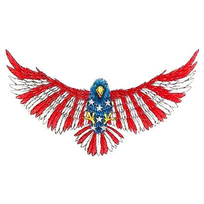 Old School American Eagle Tattoo Design