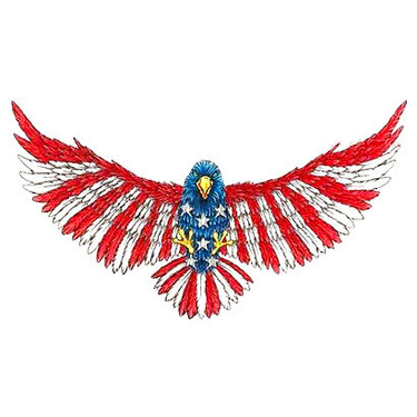 Old School American Eagle Tattoo