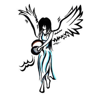 Angel Aquarius Tattoo
