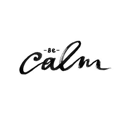 Be Calm Tattoo Design