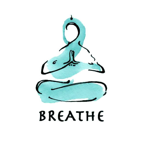 Calming Breathe Tattoo Design