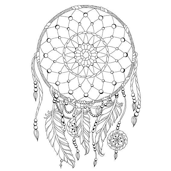 Calming Dreamcatcher Tattoo Design