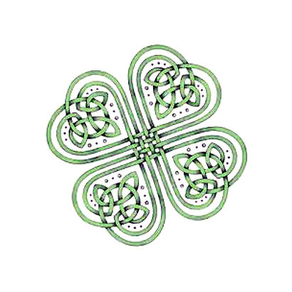Celtic Clover Tattoo Design
