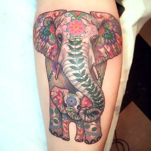 Baby Elephant Tattoo Idea