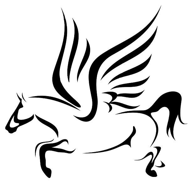 Flying Pegasus Inspiration Tattoo Design