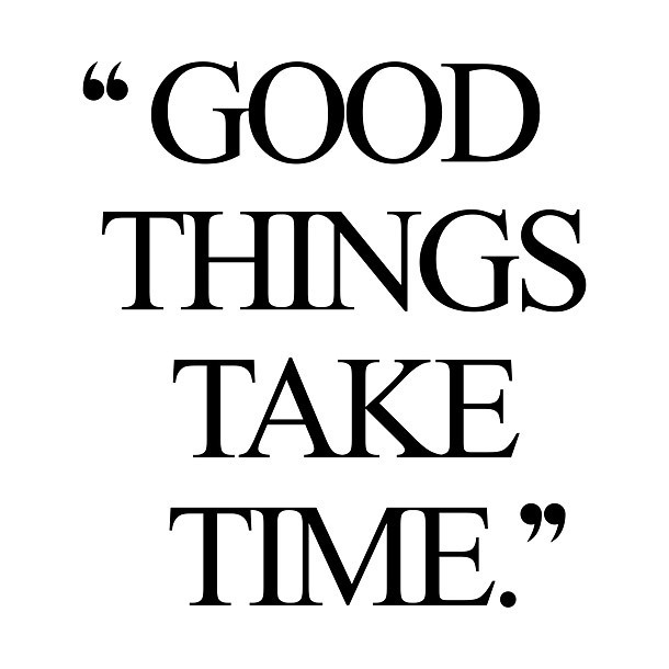 Good Things Like Time Quote Tattoo Design