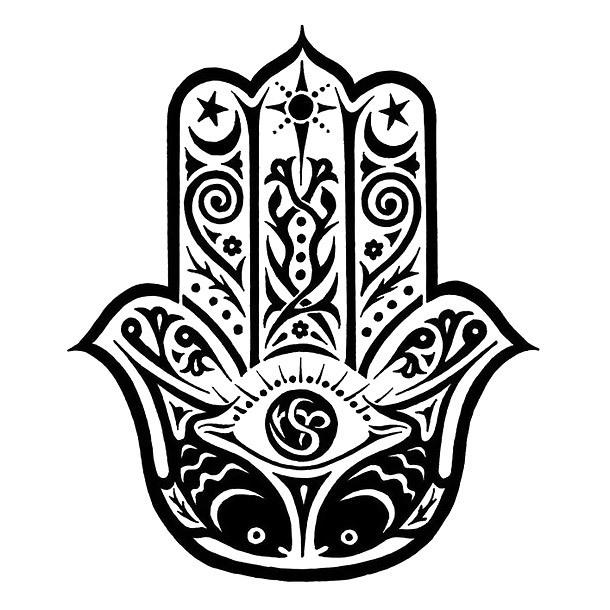 Great Hamsa Tattoo Design