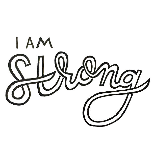 I Am Strong Tattoo Design