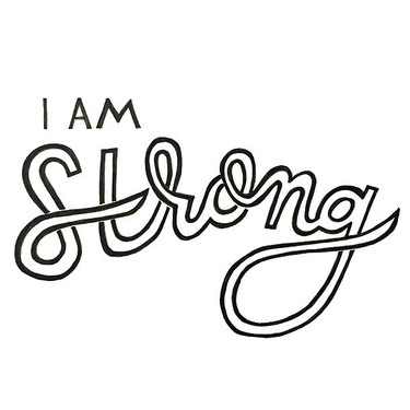 I Am Strong Tattoo