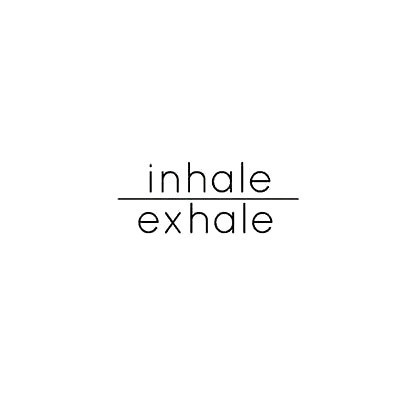 Inhale Exhale With Line Tattoo Design
