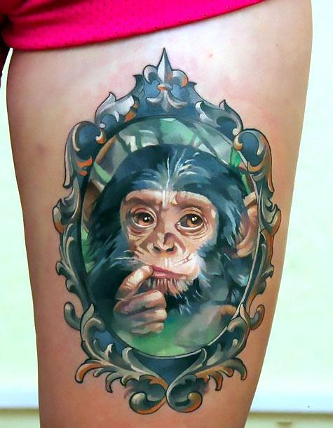 Baby Monkey Tattoo Idea