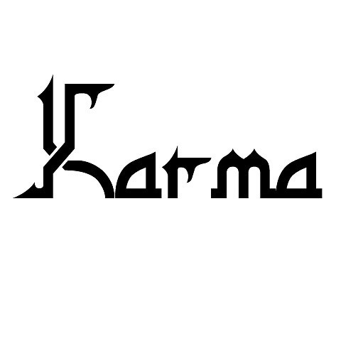 Karma Word Tattoo Design