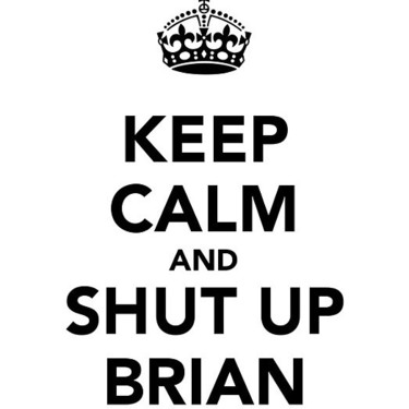Keep Calm and Shut Up Brian Tattoo