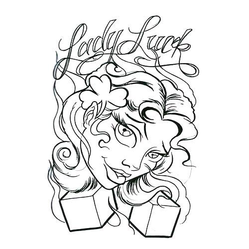 Lady Luck Tattoo Design