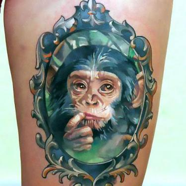 Baby Monkey Tattoo