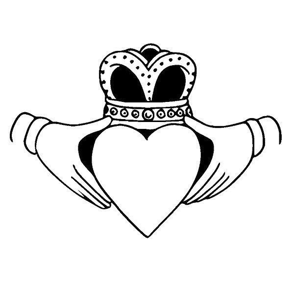Loyalty Heart and Crown Tattoo Design