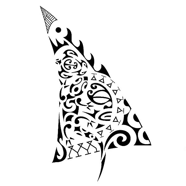 Maori New Beginning Symbol Tattoo Design