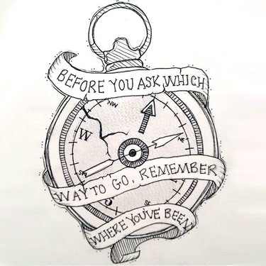 Motivational Compass Tattoo