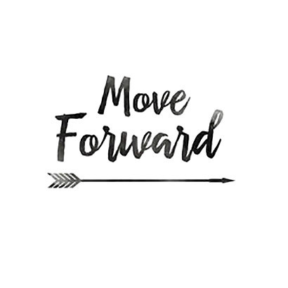 Move forward Tattoo Design