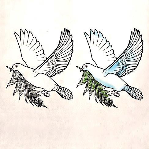 Nice Dove Hope Tattoo Design