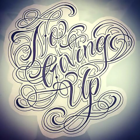 No Living Up Tattoo Design