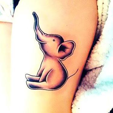 Baby Elephant Cute Tattoo