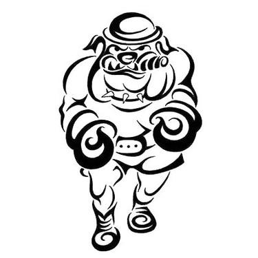 Patriotic Bulldog Tattoo