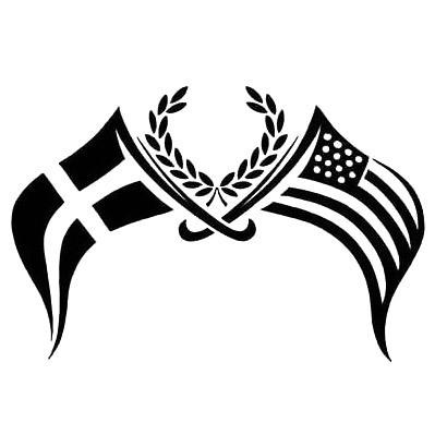 Patriotic Flags Tattoo Design