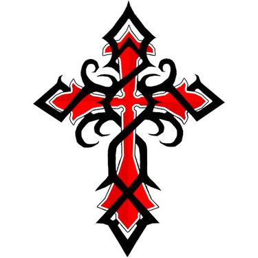 Red Celtic Cross Tattoo