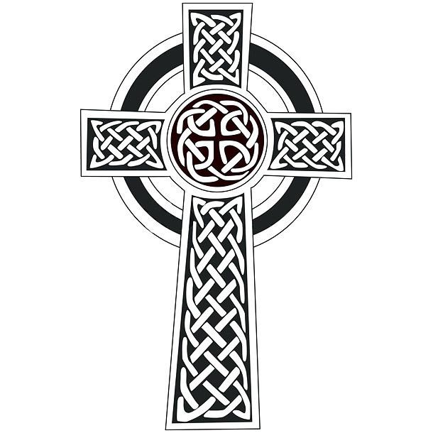 Simple Celtic Cross Tattoo Design