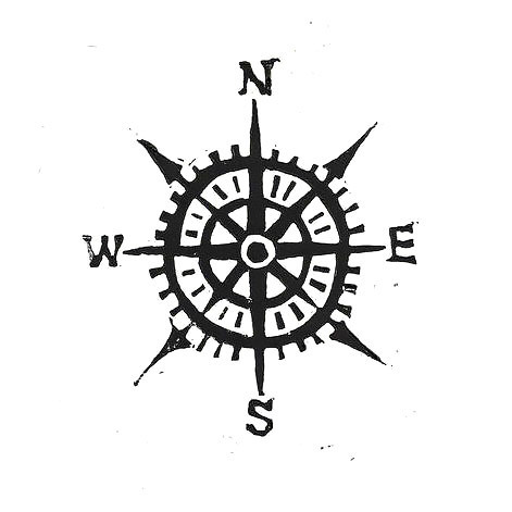 Simple Compass Tattoo Design