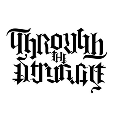 Through The Struggle Ambigram Tattoo