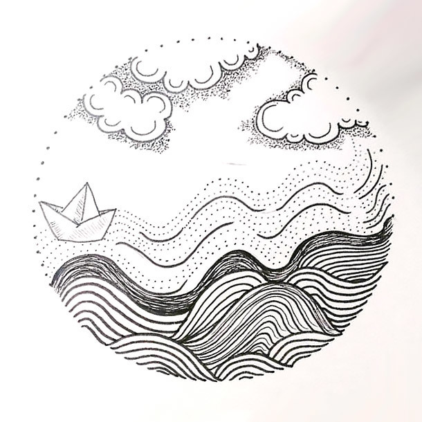 Travelling Circle Tattoo Design