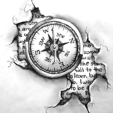 Travelling Compass Tattoo