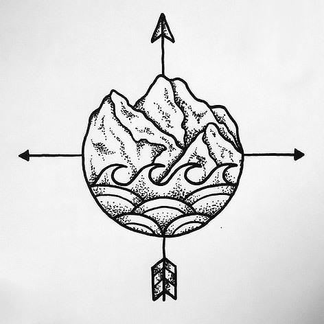 Travelling Symbol Tattoo Design