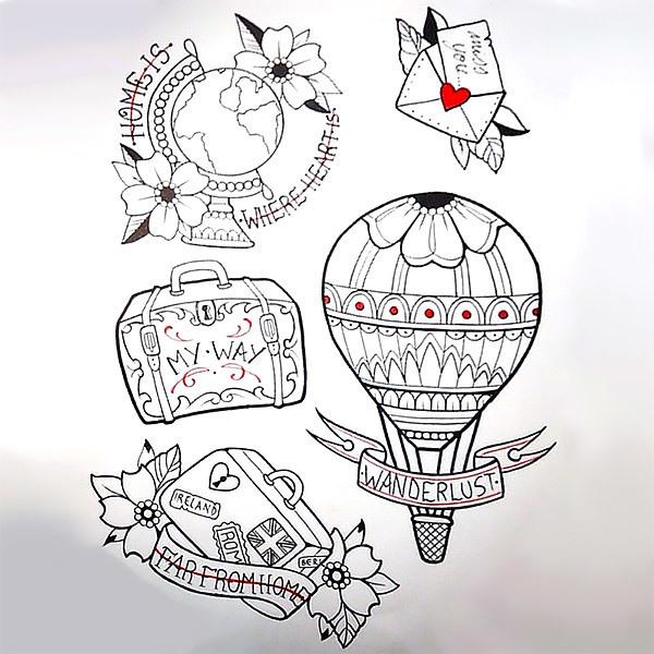 Travelling Tattoos Tattoo Design